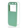 MOONCASE Ultra Thin Leather Side Flip Pouch Hard board Shell Back ЧЕХОЛДЛЯ HTC One 2 Mini( M8 Mini ) Azure