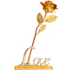 Чехия розового золота розы День Святого Валентина подарки для подарка праздника Дня матери послать жене подарок на день рождения подруги золотой розы Упакованный с подставкой
