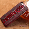 Чехол из натуральной кожи для iPhone 6 6S Plus Case Ostrich Foot Texture Back Cover для X 7 8 Plus Case g case ostrich texture card slot leather coated pc case for iphone 6s plus 6 plus black