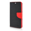 MOONCASE Cross pattern Leather Side Flip Wallet Card Slot Pouch Stand Shell Back ЧЕХОЛ ДЛЯ Samsung Galaxy A7 Black red mooncase leather side flip wallet card slot pouch stand shell back чехол для samsung galaxy core i8260 i8262 black white