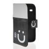 MOONCASE Leather Side Flip Wallet Card Slot Pouch Stand Shell Back ЧЕХОЛДЛЯ Samsung Galaxy Core I8260 I8262 Black white чехол для samsung galaxy core gt i8262