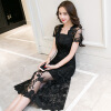 Женское вышитое кружевное платье, юбка, юбка в пояснице, платье знаменитостей женское платье 21050