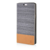 MOONCASE Canvas Design Leather Side Flip Wallet Pouch Stand Shell Back ЧЕХОЛДЛЯ Samsung Galaxy A7 Dark Brown mooncase canvas design leather side flip wallet pouch stand shell back чехолдля samsung galaxy s6 edge dark brown