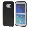 MOONCASE S - линия Мягкий силиконовый гель ТПУ защитный чехол гибкой оболочки Защитный чехол для Samsung Galaxy S6 Edge Черный