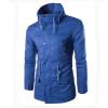 zogaa чистый цвет случайные двойной ошейник слим мужской пиджак