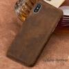 Чехол из натуральной кожи для iPhone X Case Crazy Horse Leather Back Cover для 6 6S 7 8 Plus Case чехол apple leather case для iphone 6 6s plus