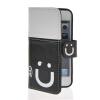 MOONCASE Leather Side Flip Wallet Card Slot Pouch Stand Shell Back ЧЕХОЛДЛЯ Apple iPhone 5 5S Black white чехол для iphone 5 глянцевый с полной запечаткой printio bruce black white