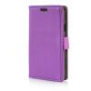 MOONCASE Litch Skin Leather Side Flip Wallet Card Slot Pouch Stand Shell Back ЧЕХОЛДЛЯ LG Tribute / LG Optimus F60 Purple luxury stand flip