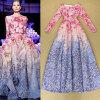 Lovaru ™ Высокое качество длинными рукавами Цветочные печатных платье выпускного вечера знаменитости партия длинное платье знаменитости в челябинске