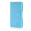 MOONCASE Cross pattern Leather Side Flip Wallet Card Slot Pouch Stand Shell Back ЧЕХОЛ ДЛЯ Microsoft Lumia 535 Blue