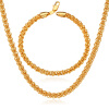 У7 ожерелье комплект ювелирных изделий для мужчин подарочные оптом штамп 18k настоящее позолоченные модные круглые цепи ожерелье Браслет комплект ювелирных изделий