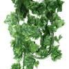 mymei 7.7feet искусственные лже - листья плюща гарланд растения поддельные украшения из сладкого картофеля листьев растения