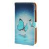 MOONCASE Microsoft Lumia 435 случая Голубая бабочка кожаный бумажник флип Слот для карты Кронштейн задняя крышка Крышка A 06 мобильный телефон microsoft lumia 435 lumia 430