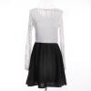 Женская длинными рукавами Кружева Bodycon платье белый длинный рукав vintage кружева bodycon платье белом кружевном платье