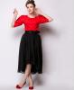 Lovaru ™Темперамент цветом шифон юбки станции Европа 2 015 лето новая мода высокая талия юбки юбки зонтик