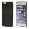 MOONCASE iPhone 6 (4,7 ) кожаный чехол карта кожи + силиконовый гель ТПУ Тонкий прочный чехол Обложка Черный mooncase iphone 6 4 7 чехол гибкая мягкий гель тпу силиконовая кожа тонкий прочный чехол для apple iphone 6 4 7 синий