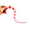 Красный Портативный Анал Шарики Силиконовые Желе Вилкой Вытаскивают Сеть Секс Игрушки 360237 yeni я yeniya немного красный кружевные стринги d4114 размер