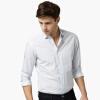 Тысячи пуловеры Мужская осень Зима l263 Тонкая рубашка для печати моды Мужская рубашка с длинным рукавом White 180 / 96A (XL)
