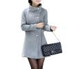 CT&HF Женщины Темперамент Сладкий пальто Горячий продавать Pure Color шерстяные пальто женщин лацканы контракту Классический длинный рукав пальто пальто