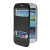 MOONCASE View Window Leather Side Flip Pouch Stand Shell Back ЧЕХОЛДЛЯ Samsung Galaxy Grand Duos i9080 i9082 Black