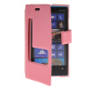 MOONCASE View Window Leather Side Flip Pouch Stand Shell Back ЧЕХОЛДЛЯ Nokia Lumia 920 Pink