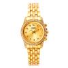 Мужские золотые Щепка тон нержавеющей стали способа диапазона кварца наручные часы Аналоговые Лучший подарок для девочек G & D201515-1