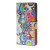 MOONCASE Flower style Leather Side Flip Wallet Card Slot Stand Pouch ЧЕХОЛДЛЯ Huawei Ascend P8 mooncase чехол для huawei ascend p8 wallet card slot with kickstand flip leather back white