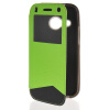 MOONCASE View Window Leather Side Flip Wallet Card Slot Pouch Stand Soft Shell чехол для Htc One Mini 2 ( M8 Mini ) Green roar korea for iphone 7 4 7 diary view window leather stand case green