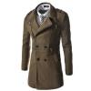 CT&HF Мужчины Отдых моды пальто средней длины пальто молния дизайн Элегантный Темперамент пальто отворотом Pure Color куртка с длинным рукавом пальто контракту пальто huppa пальто yasmine