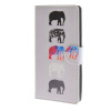 MOONCASE Слон стиль Кожа боковой паз флип Бумажник карты Стенд Чехол чехол для LG C90 / A15