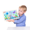 Деревянные развивающие игрушки мелкие животные Fisher-Price Головоломка Marine FP7002B