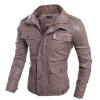 Zogaa новую мужскую куртку, слим кожаная одежда
