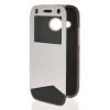 MOONCASE View Window Leather Side Flip Wallet Card Slot Pouch Stand Soft Shell чехол для Htc One Mini 2 ( M8 Mini ) White non standard die cut plastic combo cards die cut greeting card one big card with 3 mini key tag card