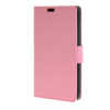 MOONCASE Simple Leather Flip Wallet Card Slot Stand Back чехол для Sony Xperia E4 Pink mooncase чехол для sony xperia m4 aqua wallet card slot with kickstand flip leather back hot pink
