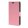 MOONCASE Simple Leather Flip Wallet Card Slot Stand Back чехол для Sony Xperia E4G Pink