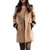 CT&HF Женщины двубортные пальто Зимние Шерсть