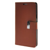 MOONCASE чехол для Samsung Galaxy A7 Flip Leather Wallet Card Slot Bracket Back Cover Brown hatred