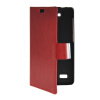 MOONCASE Slim Leather Side Flip Wallet Card Slot Pouch with Kickstand Shell Back чехол для Huawei Honor Holly Red wkae double side embossing rose flower synthetic leather wallet case soft silicone back cover with flip kickstand and lanyard for huawei nova
