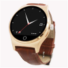 Элегантность круговой экран Bluetooth Watch Phone Смарт Фитнес Смарт часы с кожаный ремешок / динамика / Heart Rate Monitor / шагомер