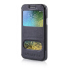 MOONCASE View Window High grade Leather Side Flip Pouch Stand Shell Back ЧЕХОЛДЛЯ Samsung Galaxy E5 / E500 Blue mooncase view window high grade leather side flip pouch stand shell back чехолдля samsung galaxy e5 e500 hot pink