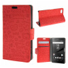 MOONCASE Sony Xperia Z5 Compact ( Z5 Mini ) ЧЕХОЛ ДЛЯ Leather Flip Wallet Card Slot Bracket Back Red чехол подставка для sony xperia z5 compact sony scr44 белый