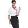 Мария Gucci (Марджа Керки) большие квадратные шелковые розы романтические европейские дамы в стиле шарфы ручной бисером фиолетовый 1Z122124