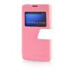 MOONCASE View Window Leather Side Flip Pouch Ultra Slim Shell Back ЧЕХОЛДЛЯ Sony Xperia Z1 Compact (Z1 Mini ) Pink чехол sony xperia z1 compact купить киев