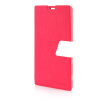 MOONCASE Leather Side Flip Pouch Stand Ultra Slim Shell Back ЧЕХОЛ ДЛЯ Sony Xperia T3 Hot pink sony xperia t3