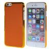 MOONCASE Litchi Skin золото Chrome Hard Back чехол для Cover Apple iPhone 6 (4.7) Orange