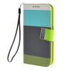 MOONCASE чехол для Samsung Galaxy S6 Stripe spell color Flip Wallet Card Slot Stand Pouch Leather Cover luxury stand flip