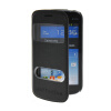 MOONCASE View Window Leather Side Flip Pouch Stand Shell Back ЧЕХОЛДЛЯ Samsung Galaxy S Duos S7562 Black samsung galaxy s iii duos i9300i в гомеле