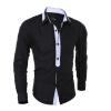 2016 мода Мужская Рубашки Высокое качество длинный рукав рубашки мужчин Slim Fit Мужская одежда сорочка Homme мужская одежда
