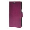 MOONCASE Smooth PU Leather Flip Wallet Card Slot Bracket Back чехол для Samsung Galaxy J1 Purple stylish flip open pu leather case w card slot holder for samsung galaxy s4 i9500 purple