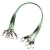 72pcs лески разъем Роллинг Поворотный нержавеющей стали Spinner провода Зеленый